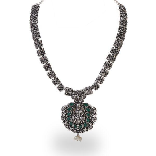 Oxidised Temple Necklace