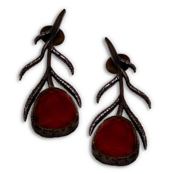 Indo Western Trendy Earring With Black Plating
