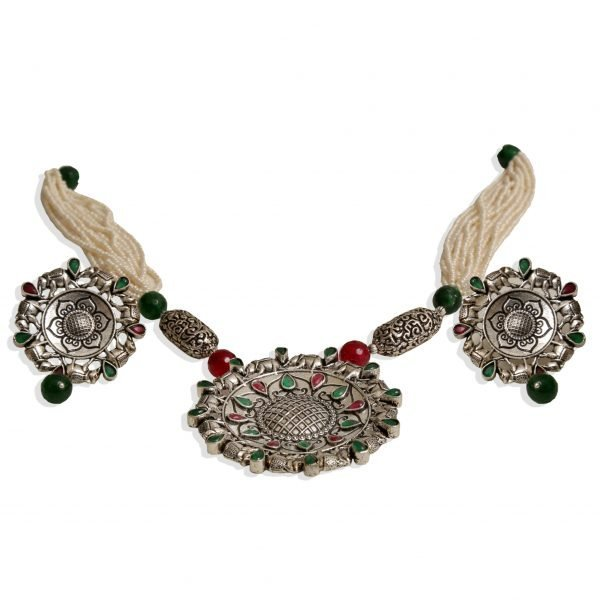 Oxidized Long Necklace
