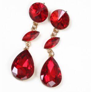 Fashion long earrings Red