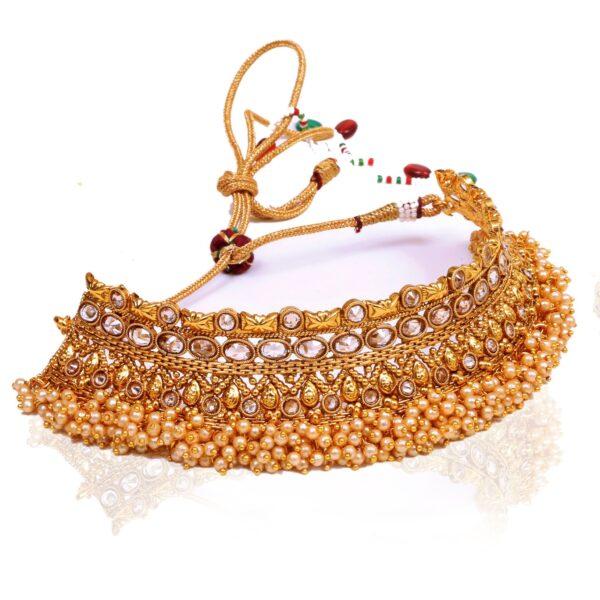Antique choker gold necklace