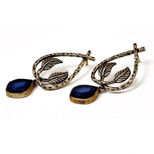 Indo Western Trendy Earring With Mehndi Plating