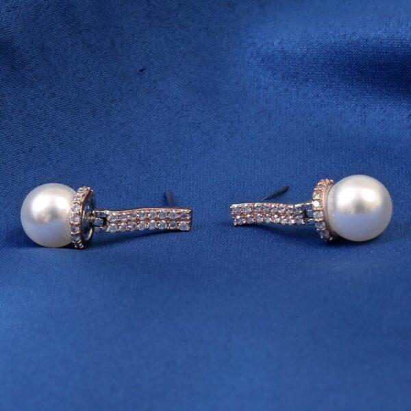 CZ Pearl Drop Earrings