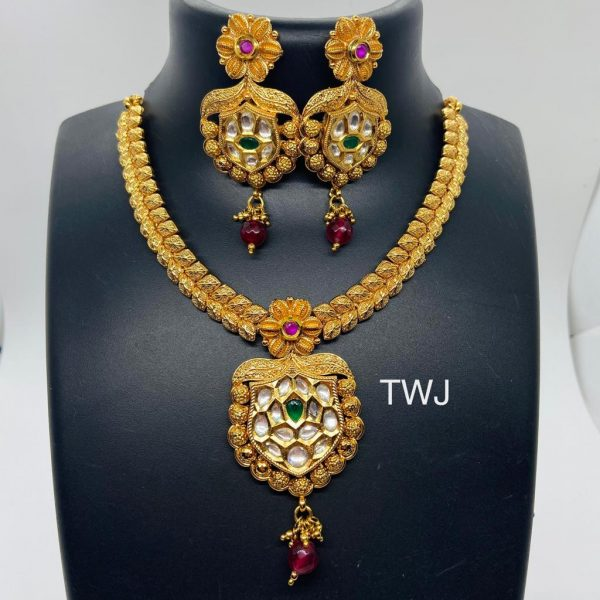 Necklace With Gold Platting