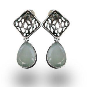 Oxidized Drop Earrings