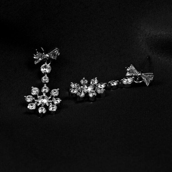 CZ flower Earrings