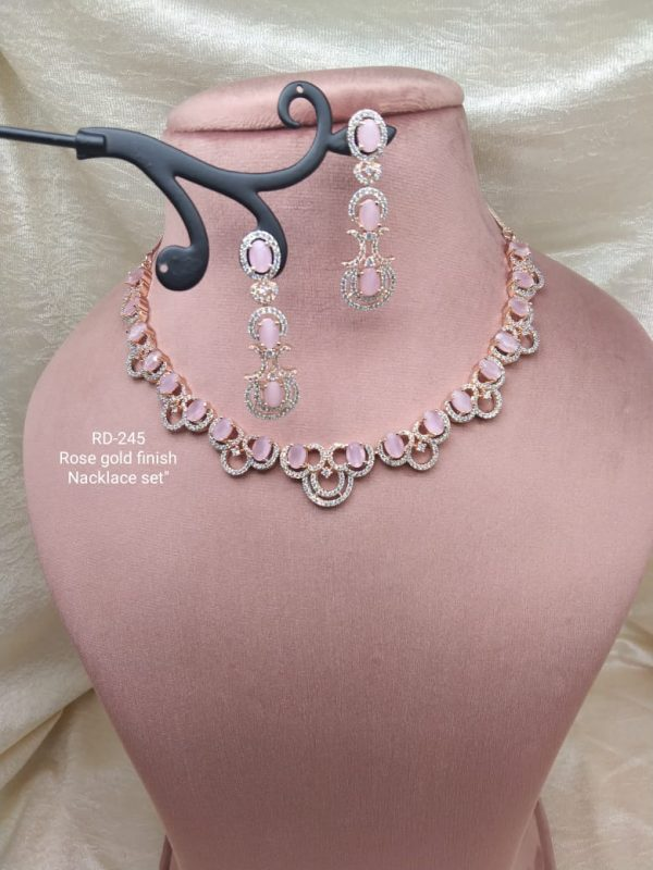 Pink AD Necklace Set