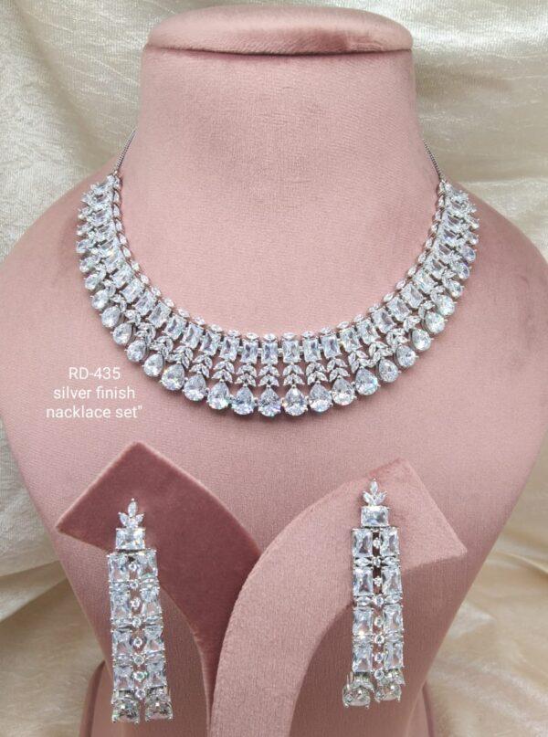 Silver AD Necklace