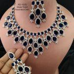 Blue AD Designer Necklace