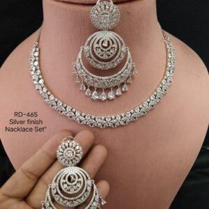 Designer Silver AD Necklace