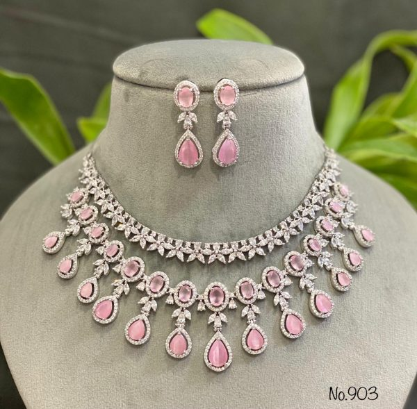 Pink AD Necklace