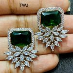 Green AD Stone Earrings