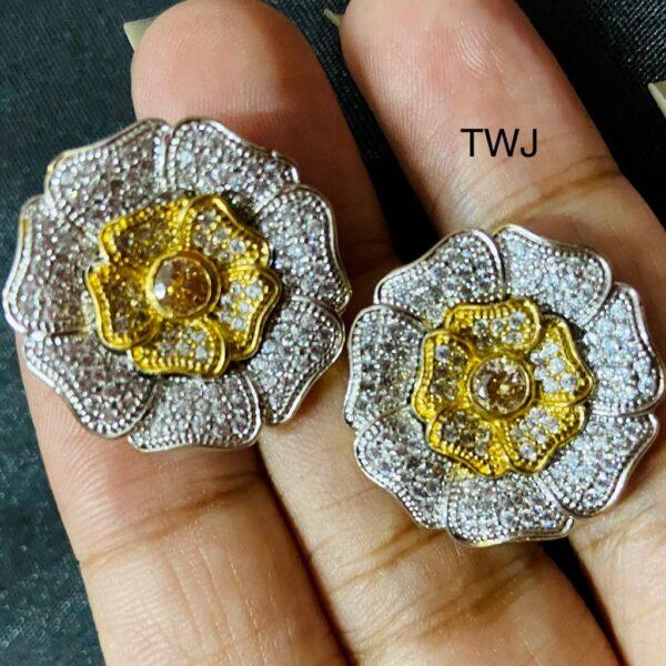 Designer AD Flower Earrings