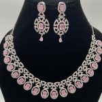 Silver Plated Pink Necklace
