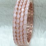 Rose Plated AD Bangles