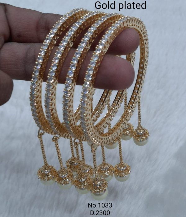Gold Plated Hanging Bangles