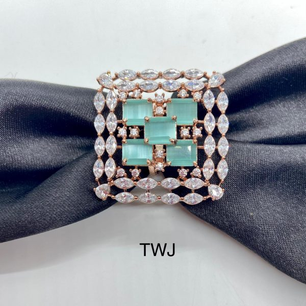 Blue Square Design Ring