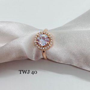 Simple Rosegold AD Ring