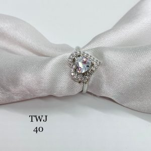 Silver Heart Shaped Ring