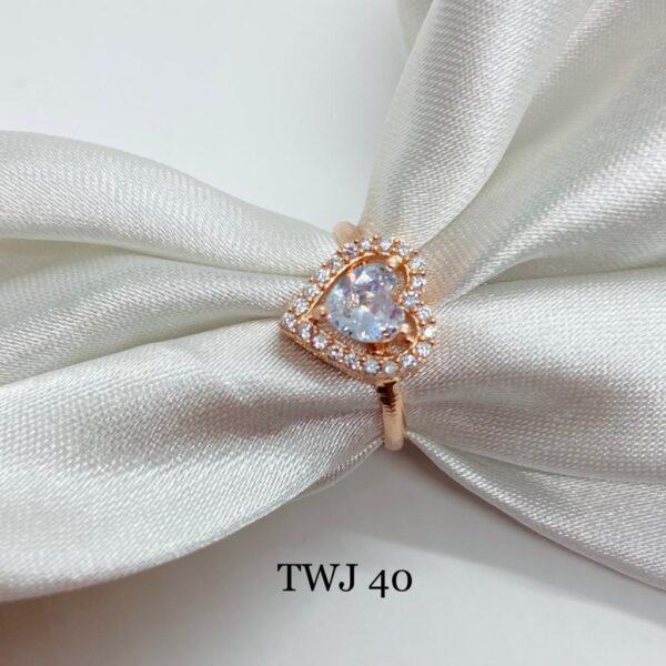 Rosegold Heart Shaped Ring