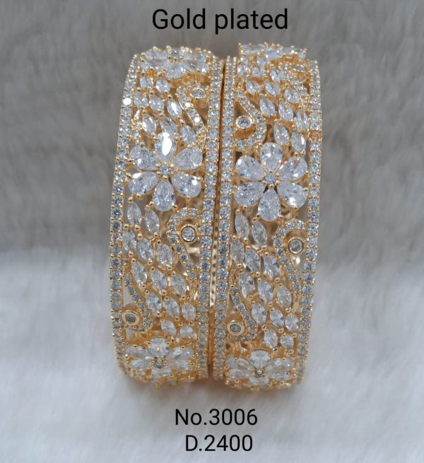 Gold Plated Flower Bangle