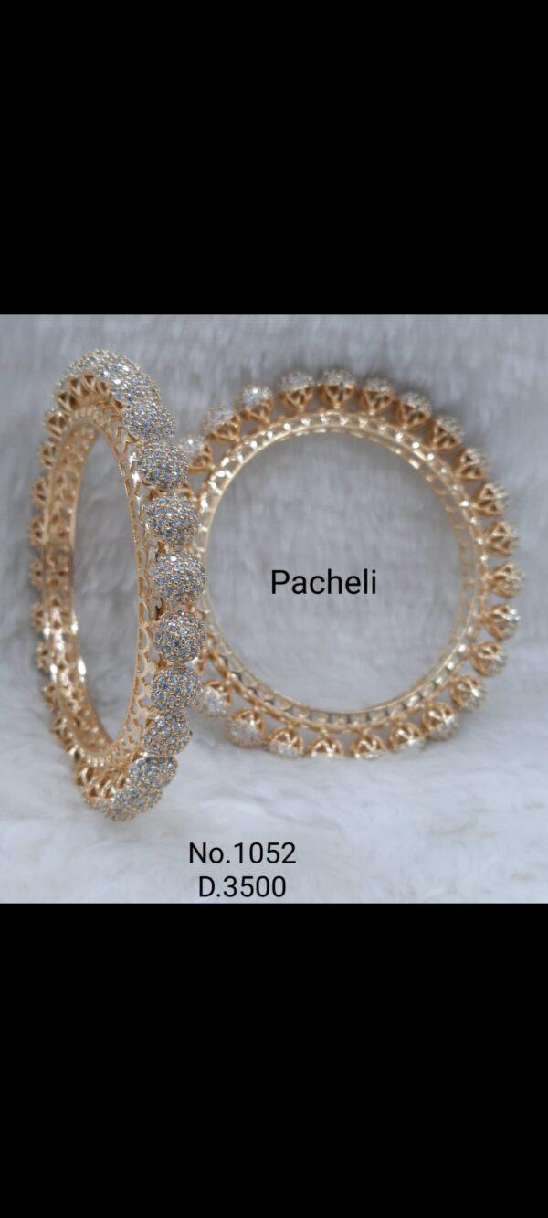 Gold Plated Pacheli Bangle