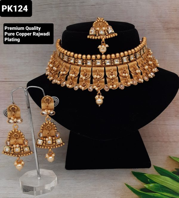 Rajwadi Plated Bridal Set