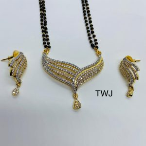 AD Gold Plated Mangalsutra