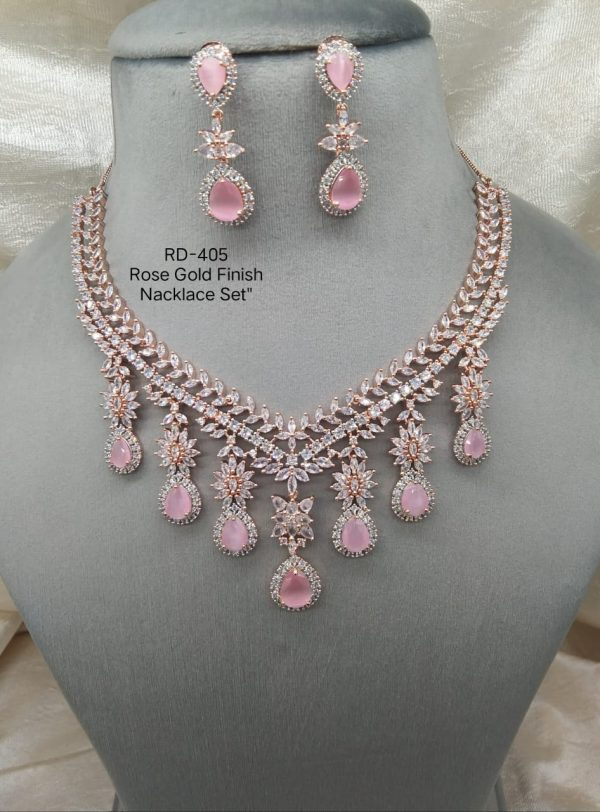 Pink Hanging Necklace