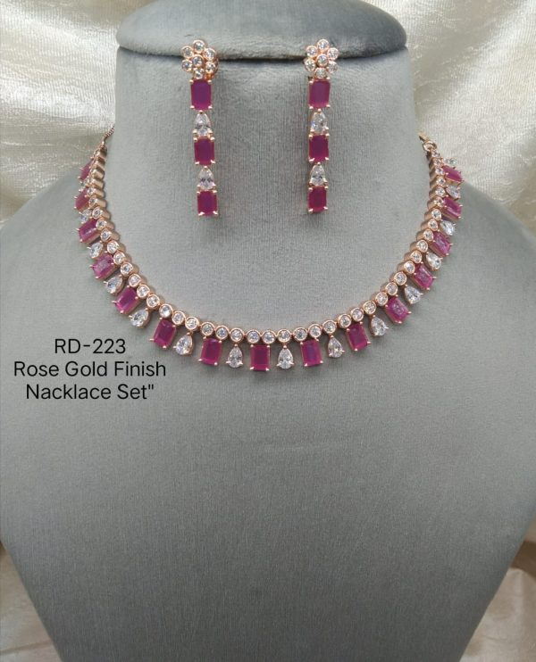 Ruby RoseGold Necklace