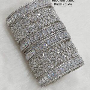 Bridal Rhodium Plated Chuda