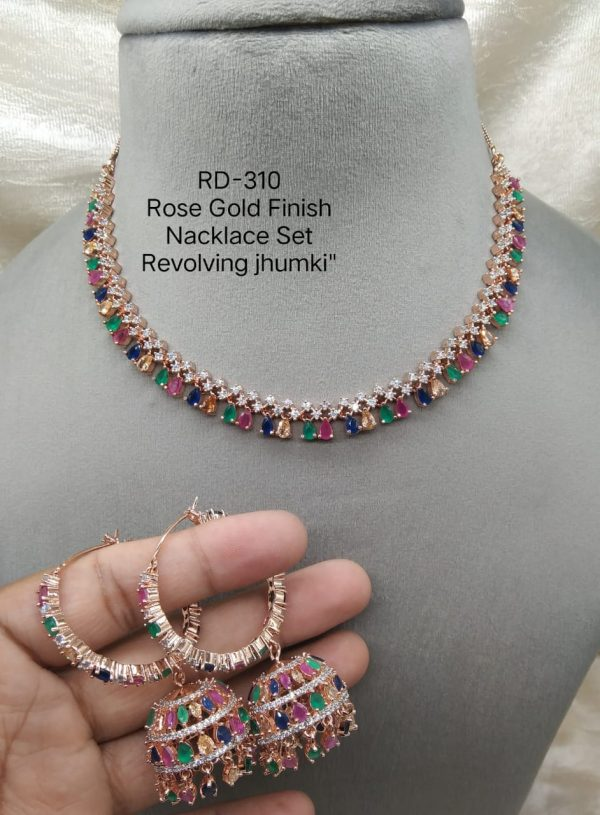 Multicolor RoseGold Necklace