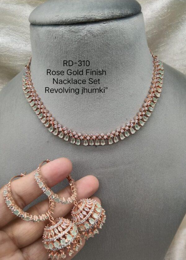 Mint RoseGold Necklace Set