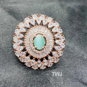 RoseGold Mint AD Ring