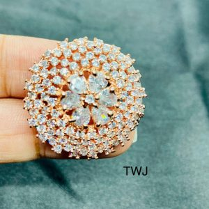 RoseGold Round Shaped Ring
