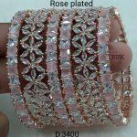 Flower Rosegold Finish Bangle
