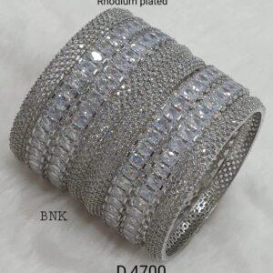 Rhodium American Diamond Bangles