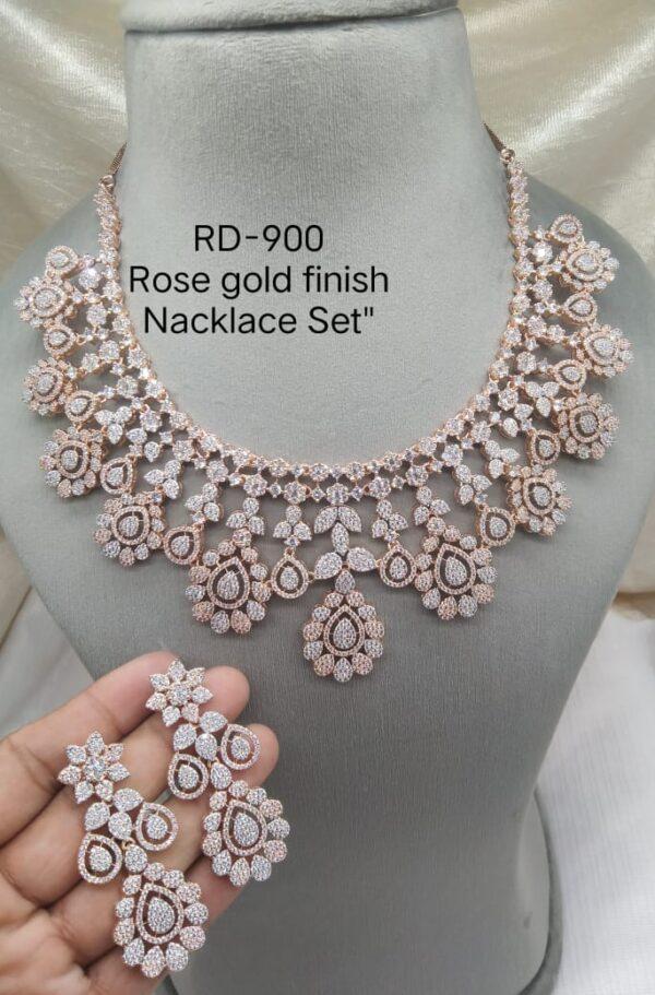 AD Rosegold Bridal Necklace