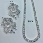 Silver AD Long Necklace