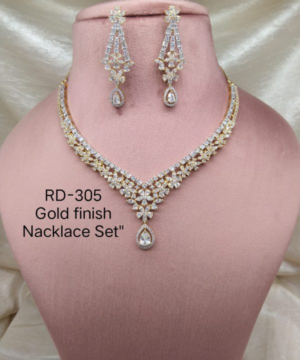 Gold AD Necklace Set