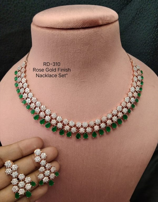 Green Stone AD Necklace