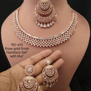 Designer Necklace With Tika