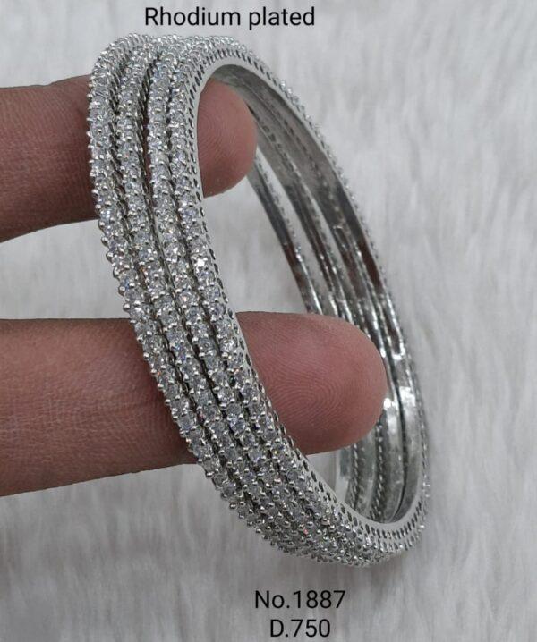 Delicate Silver Bangles