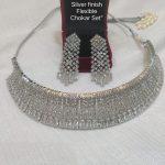 Heavy Silver Choker Set