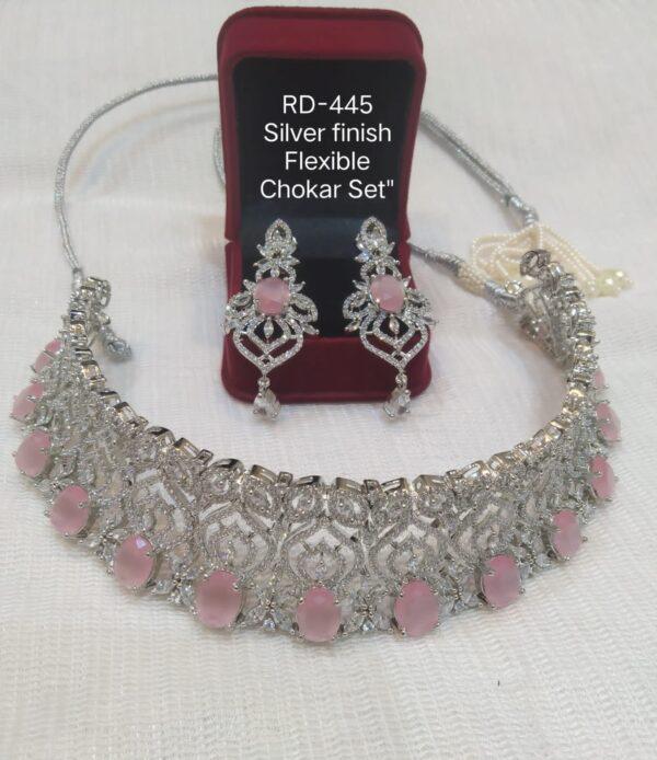 Pink AD Stone Choker