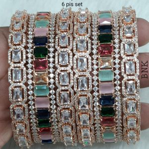 American Diamond Bangle Set