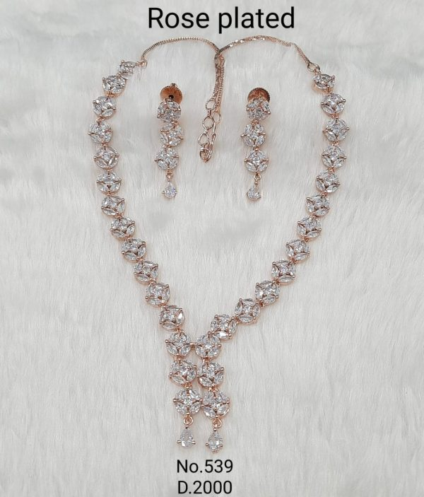 Simple AD Necklace Set