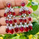 Red Layered AD Earrings